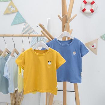 Модерна детска тениска за момчета - изчистен модел
