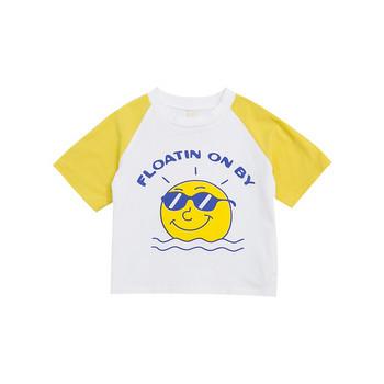 Нов модел детска тениска с обло деколте и къс ръкав