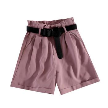Актуални дамски къси панталони с висока талия и колан