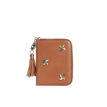 Γυναικείο μοντέρνο πορτοφόλι  για κάρτες με μεταλλική διακόσμηση