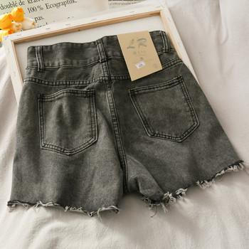 Модерни дамски дънкови панталони с висока талия