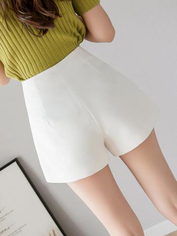Дамски къси модерни  панталони с цип А-линия