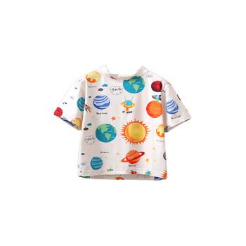 Модерна детска тениска за момчета с обло деколте и къс ръкав