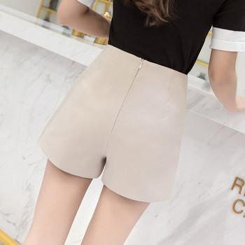 Стилни дамски къси панталони с цепки и средно-висока талия