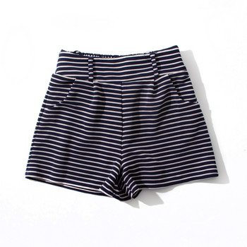 Къси дамски раирани панталони