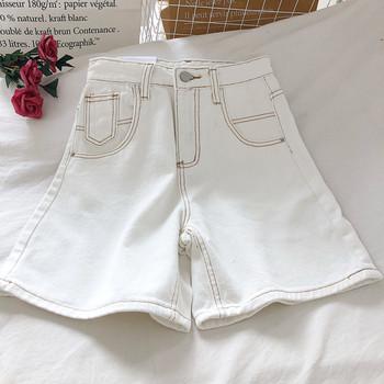 Ежедневни дамски дънкови панталони с висока талия