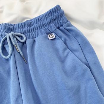 Ежедневни дамски къси панталони с връзки и еластична талия