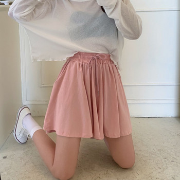 Къси дамски панталони широк модел с връзки