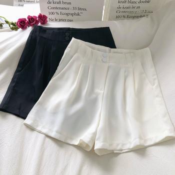 Модерни къси панталони с висока талия и копчета
