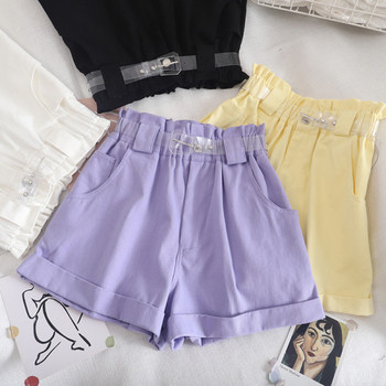 Ежедневни къси панталони с колан и джобове