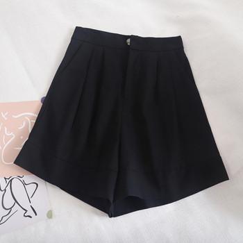 Ежедневни къси панталони широк модел с висока талия