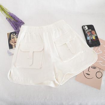Ежедневни къси панталони с джобове и еластична талия