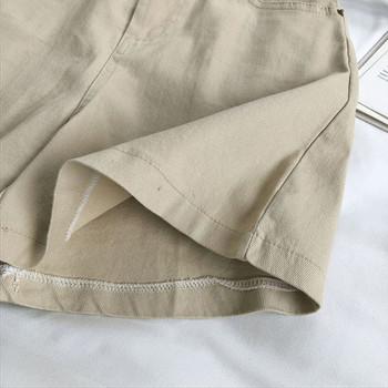 Къси ежедневни панталони с колан и висока талия