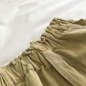 Ежедневни къси панталони с еластична талия и копче