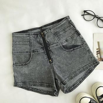 Модерни къси панталони с цип и висока талия