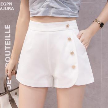 Нов модел дамски панталони с копчета и джобове