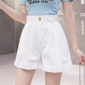 Ежедневни дамски панталони с висока талия-широк модел