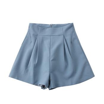 Актуални дамски панталони с цип и висока талия