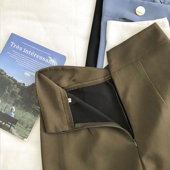 Дамски къси панталони с цип и копчета