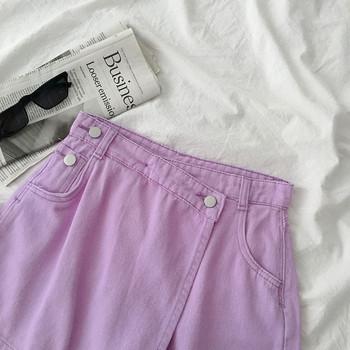 Актуална дамска пола-панталон с висока талия