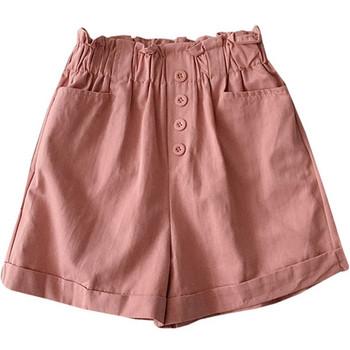 Нов модел къси дамски панталони с еластична талия