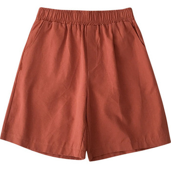 Casual γυναικείο παντελόνι με ελαστική μέση και τσέπες