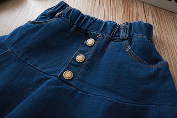 Παιδική φούστα με ψηλή μέση και κουμπιά