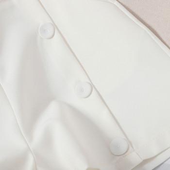 Дамски къси панталони  с висока талия и джобове