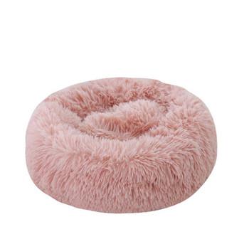 Кръгло пухено легло за котки
