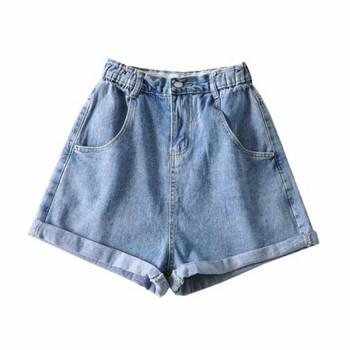 Дамски дънкови къси панталони от деним