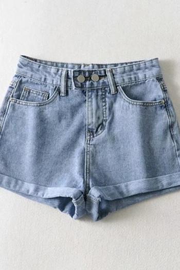 Ежедневни къси дамски панталони от деним