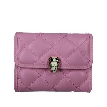 Γυναικείο καθημερινό πορτοφόλι με μεταλλική στερέωση