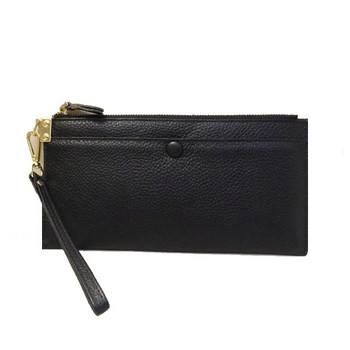 Γυναικείο πορτοφόλι από οικολογικό δέρμα και φερμουάρ