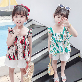 Модерен детски комплект от две части за момичета