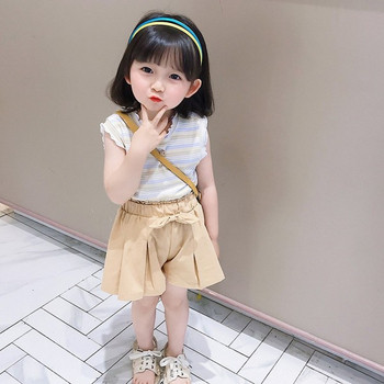 Модерен детски комплект от широки панталони и потник