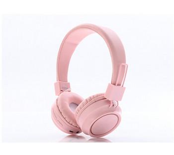 Безжични слушалки SY-BT1620  Bluetooth с SD/TF card в розов цвят
