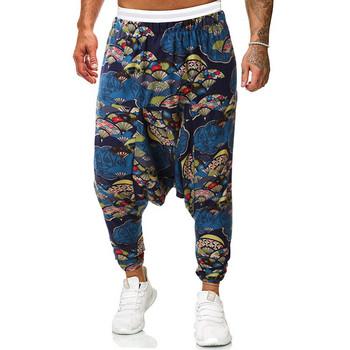 Ανδρικά παντελόνια με μοτίβο και τσέπες