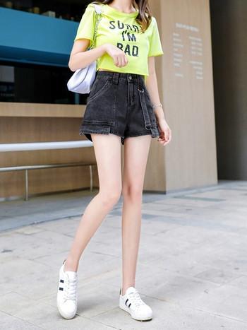 Ежедневни дънкови къси панталони с висока талия и джобове в няколко цвята