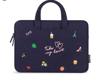 Удароустойчива чанта за лаптоп с бродерия - няколко модела