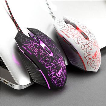 Мишка с USB кабел и LED  светлини