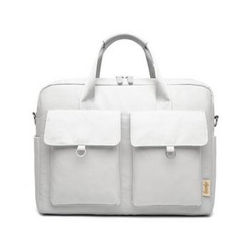 Преносима чанта подходяща за 15 - инчов лаптоп с предни джобове, къса и дълга дръжка