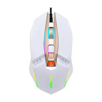 Светеща мишка за лаптоп и компютър