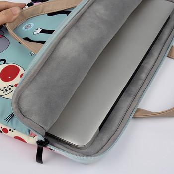 Преносима чанта за 16 инчов лаптоп с десен с котки