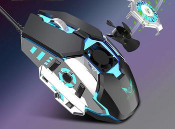 Безшумна мишка с кабел за компютър и лаптоп