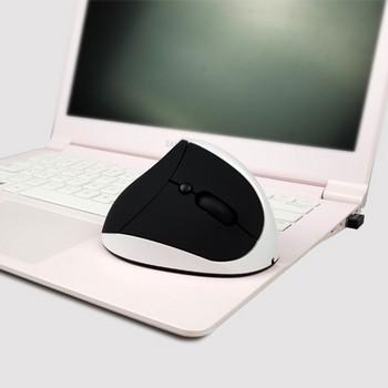 Ергономична  вертикална безжична мишка с  usb кабел и 6 броя клавиши