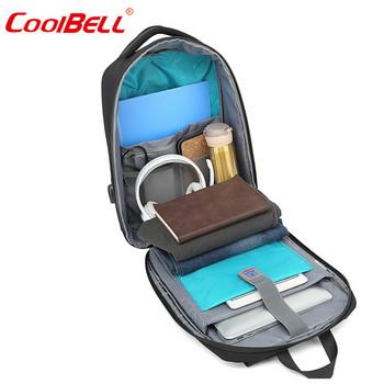 Мъжка раница за лаптоп в правоъгълна форма и USB порт