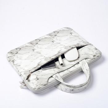 Чанта за 15.6 инчов лаптоп с преден джоб и мраморен ефект
