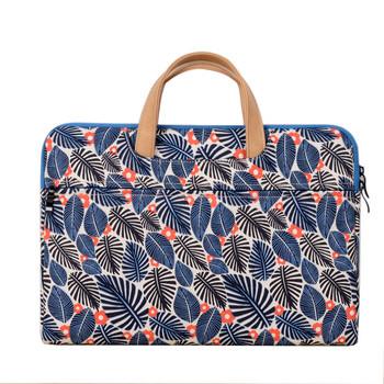 Цветна чанта за 15.6 инчов лаптоп с флорален десен и къси дръжки