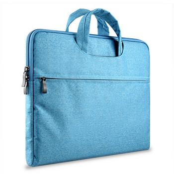Чанта за лаптоп с ципове и къса дръжка
