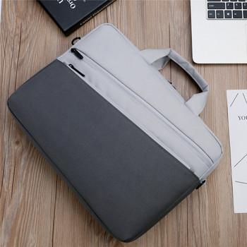 Двуцветна чанта за 14 инчов лаптоп с джобове